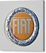 1977 Fiat 124 Spider Emblem Canvas Print
