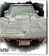 1978 Corvette Canvas Print