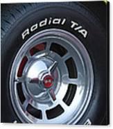 1980 Chevrolet Corvette Wheel Canvas Print
