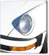 1987 White Porsche 911 Carrera Front Canvas Print