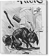 19th Century Political Cartoon Canvas Print