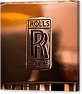 1937 Rolls-royce P-iii Saloon Hooper Canvas Print