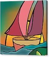 A Boat Canvas Print