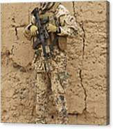A German Army Soldier Armed With A M4 Canvas Print