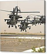 A Group Of Ah-64d Apache Helicopters Canvas Print