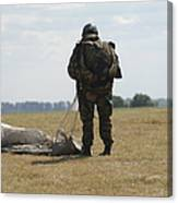 A Member Of The Pathfinder Platoon Canvas Print
