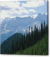 A Scenic View Of The Rocky Mountains Canvas Print