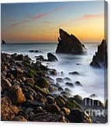 Adraga Beach Canvas Print