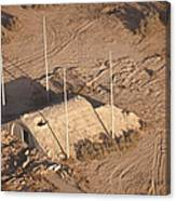 Aerial View Of A Destroyed Iraqi Canvas Print