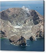 Aerial View Of White Island Volcano Canvas Print