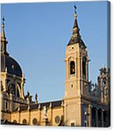 Almudena Cathedral In Madrid Canvas Print