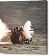 An Afghan Police Studen Fires Canvas Print