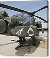 An Ah-64d Apache Helicopter At Cob Canvas Print
