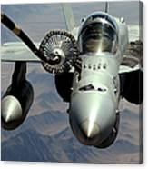 An Fa-18c Hornet Receives Fuel Canvas Print