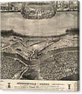 Andersonville Prison, 1864 Canvas Print