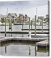 Bald Head Island Marina  Canvas Print