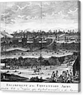Battle Of Saratoga, 1777 Canvas Print