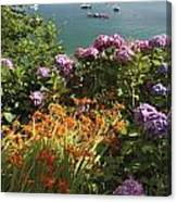 Bay Beside Glandore Village In West Canvas Print