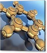 Benzene, Molecular Model Canvas Print