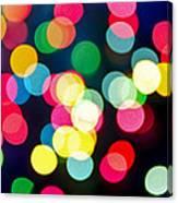 Blurred Christmas Lights Canvas Print
