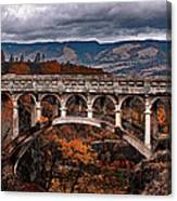 Bridge Over Autumn Canvas Print