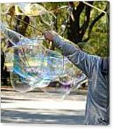 Bubble Boy Of Central Park Canvas Print