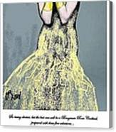 Cabaret Girl Canvas Print