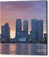 Canary Wharf In London Canvas Print