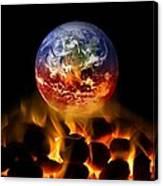 Climate Change, Conceptual Image Canvas Print