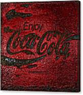 Coca Cola Classic Vintage Rusty Sign Canvas Print