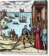 Columbus: Departure, 1492 Canvas Print