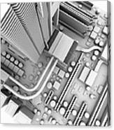 Computer Motherboard, Artwork Canvas Print