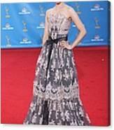 Dianna Agron Wearing A Carolina Herrera Canvas Print