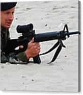 Dutch Royal Marines Taking Part Canvas Print