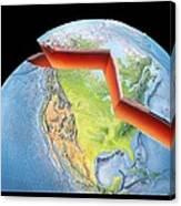 Earth Layers, Artwork Canvas Print