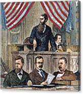 Electoral Commission, 1877 Canvas Print
