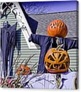 Fall  Halloween On Tillson Street Canvas Print