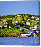Fishing Village In Newfoundland Canvas Print
