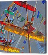 Flags Of Gasparilla Canvas Print