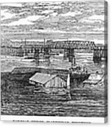 Flood: Clarksville, 1874 Canvas Print