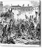 France: Revolution, 1848 Canvas Print