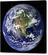 Full Earth Showing North America Canvas Print