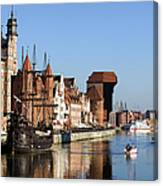 Gdansk In Poland Canvas Print