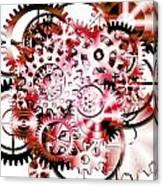 Gears Wheels Design  Canvas Print