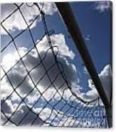 Goal Against Cloudy Sky. Canvas Print