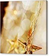 Golden Christmas Stars Canvas Print