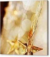 Golden Christmas Stars Canvas Print