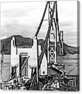 Golden Gate Bridge Work Canvas Print
