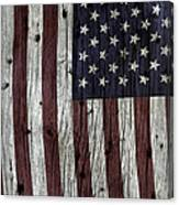 Grungy Textured Usa Flag Canvas Print