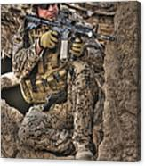Hdr Image Of A German Army Soldier Canvas Print